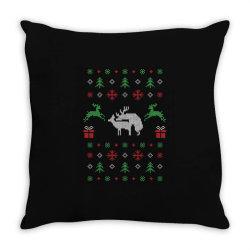 humping deers christmas 1 Throw Pillow | Artistshot