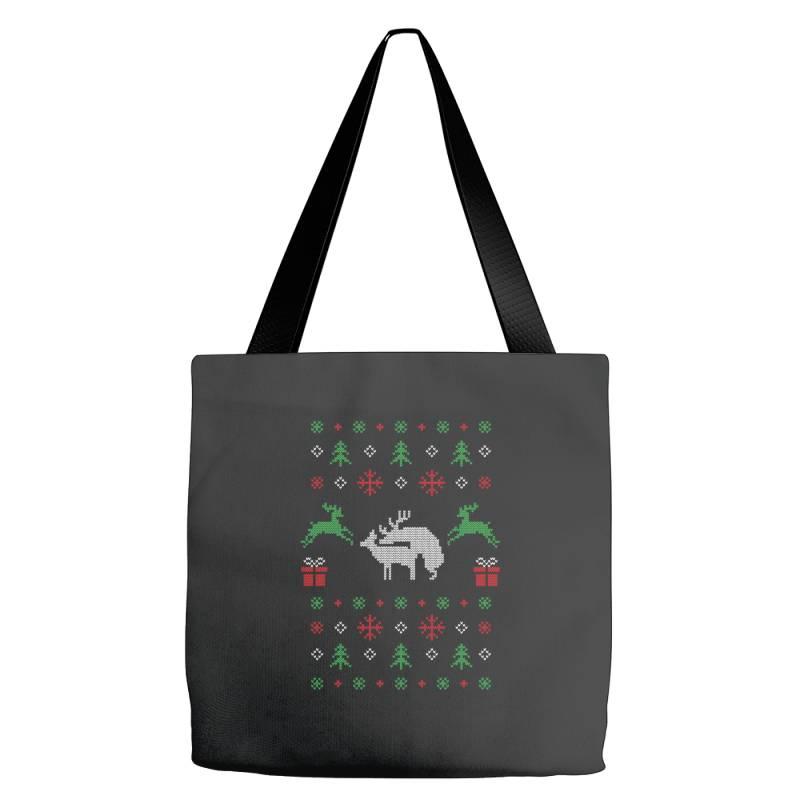 Humping Deers Christmas 1 Tote Bags | Artistshot