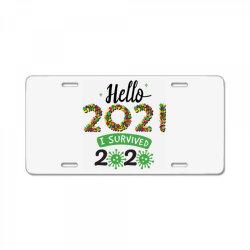hello 2021 survived 2020 License Plate | Artistshot