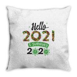 hello 2021 survived 2020 Throw Pillow | Artistshot