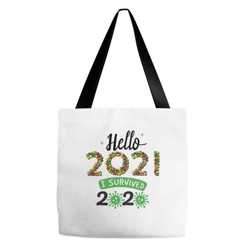 Hello 2021 Survived 2020 Tote Bags | Artistshot