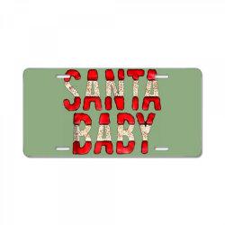 santa baby red foil License Plate | Artistshot