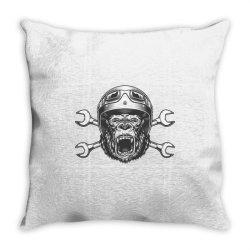 Gorilla monkey Throw Pillow | Artistshot