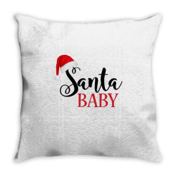 santa baby Throw Pillow | Artistshot