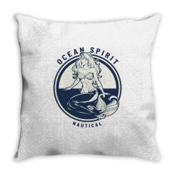 Ocean spirit, natural Throw Pillow | Artistshot