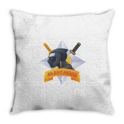 Silent night, ninja Throw Pillow | Artistshot