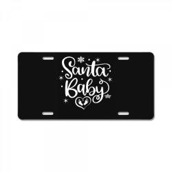 santa baby License Plate | Artistshot