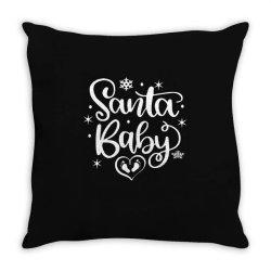 santa baby Throw Pillow | Artistshot