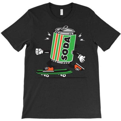 Soda Can Drink Skater Skateboard T-shirt Designed By Wiraart