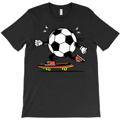 Soccer Ball Skateboarding T-shirt Designed By Wiraart