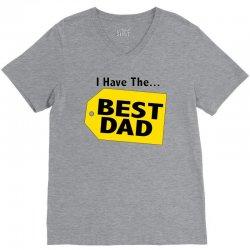i have the best dad V-Neck Tee | Artistshot