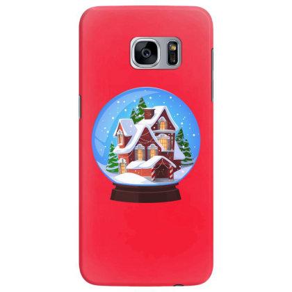 Easter, Christmas, Noel, Happy New,2021, Bulldog, Animal, Snow Globe Samsung Galaxy S7 Edge Case Designed By Gladiator_67