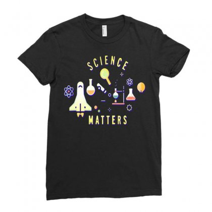 Neil Degrasse Tyson Science Matters Ladies Fitted T-shirt Designed By Jafarnr1966