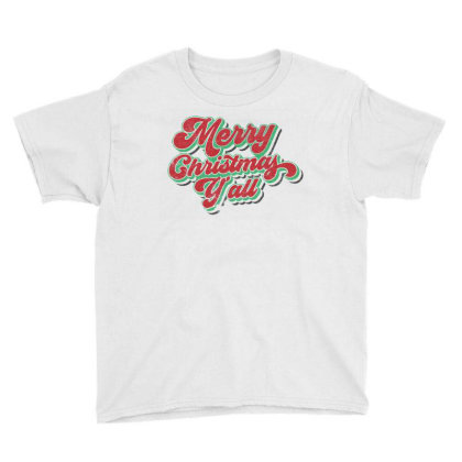 Merry Christmas Youth Tee Designed By Zig Street