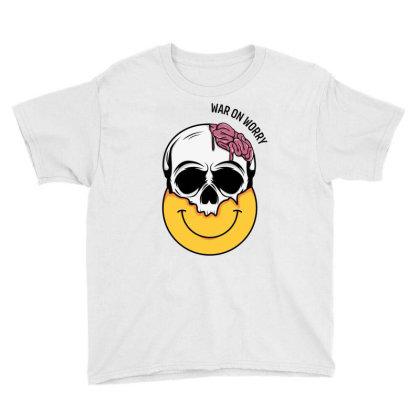 Smiling Skull Youth Tee Designed By Backtostart