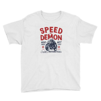 Motorcycle American Car Youth Tee Designed By Zig Street