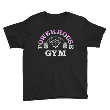 Bodybuilding Power House Gym Youth Tee Designed By Focus Tees