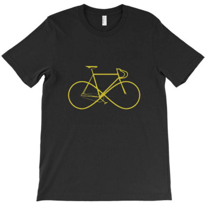 Infinity Sign Bicycle T-shirt Designed By Marmbroks