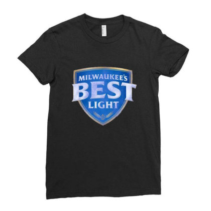 Milwaukee's Best Light Ladies Fitted T-shirt Designed By Bilnesa