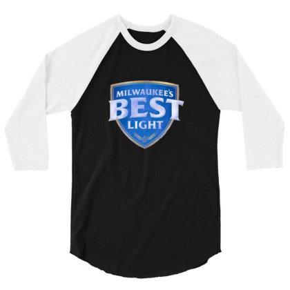 Milwaukee's Best Light 3/4 Sleeve Shirt Designed By Bilnesa