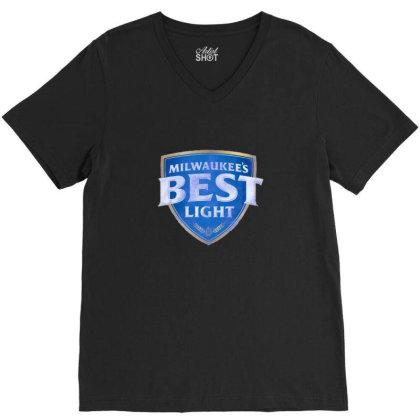 Milwaukee's Best Light V-neck Tee Designed By Bilnesa