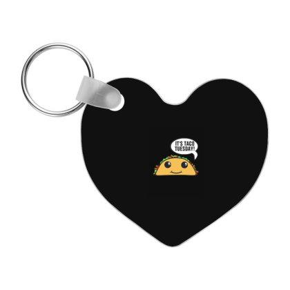 It's Taco Tuesday Frp Heart Keychain Designed By Blackstone