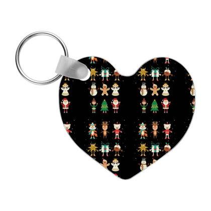 Funny Christmas Friends Frp Heart Keychain Designed By Coşkun