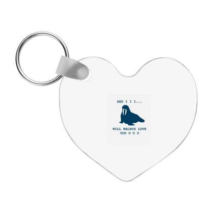 Walrus Love Frp Heart Keychain Designed By Blackstone
