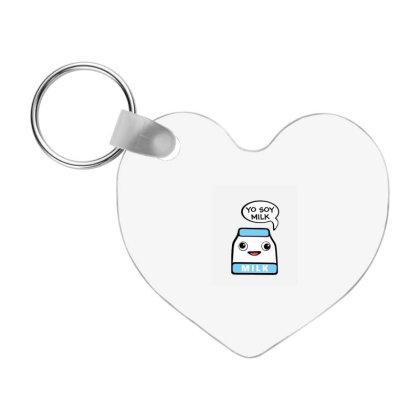 Yo Soy Milk Frp Heart Keychain Designed By Blackstone
