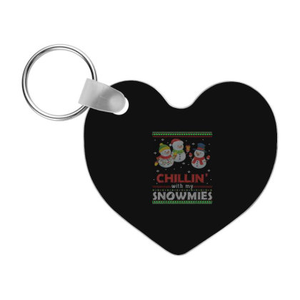 Chillin With My Snowmies Frp Heart Keychain Designed By Koopshawneen