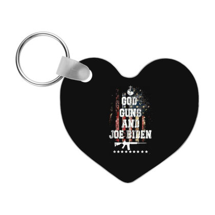 God Guns And Joe Biden 2020 Frp Heart Keychain Designed By Koopshawneen
