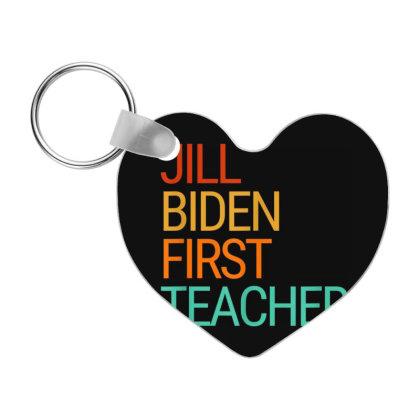 Jill Biden First Teacher Frp Heart Keychain Designed By Koopshawneen