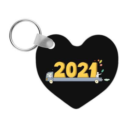 2021 Happy New Year Frp Heart Keychain Designed By Coşkun