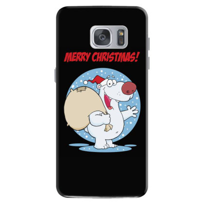 Merry Christmas Greeting With Polar Santa Bear Samsung Galaxy S7 Case Designed By Coşkun