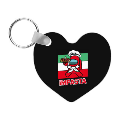 Among Us Impasta - Among Us Game Frp Heart Keychain Designed By Diogo Calheiros