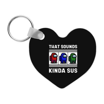 Meme Kinda Among Gaming Zocken Gamer Impostor - Among Us Game Frp Heart Keychain Designed By Diogo Calheiros