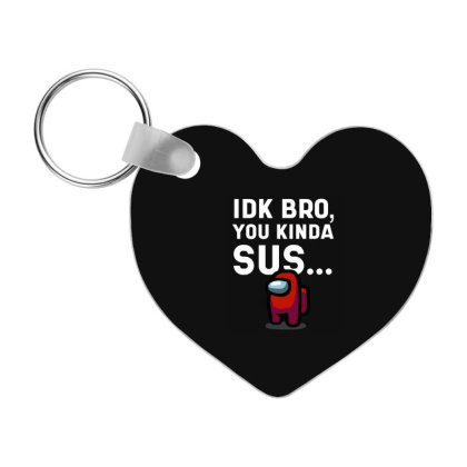 Imposter Among Impostor Crewmate - Among Us Game Frp Heart Keychain Designed By Diogo Calheiros