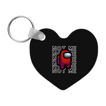 Not Me - Among Us Game Frp Heart Keychain Designed By Diogo Calheiros