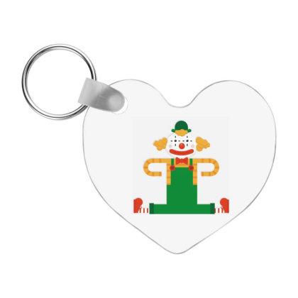 Funny Clown Cartoon Frp Heart Keychain Designed By Coşkun