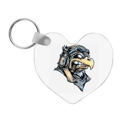 Freedom Warrior Eagle Frp Heart Keychain Designed By Coşkun