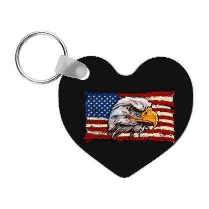 American Flag Eagle Frp Heart Keychain Designed By Coşkun