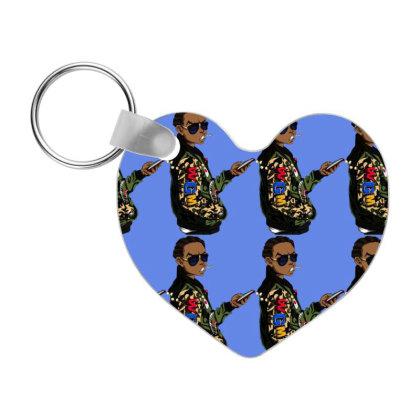 Cool Nigga Cartoon Frp Heart Keychain Designed By Coşkun