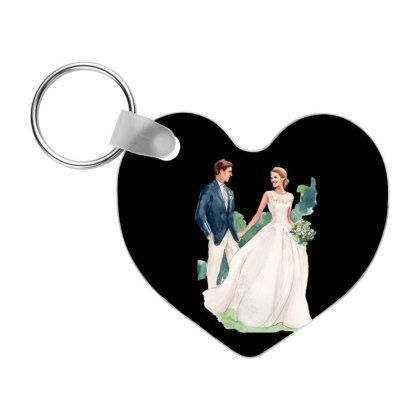 Bride And Groom Married Frp Heart Keychain Designed By Coşkun