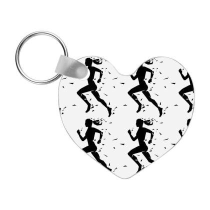 Sports Girl Frp Heart Keychain Designed By Coşkun
