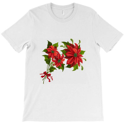 Christmas Flowers T-shirt Designed By Şen