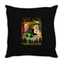 Happy Alien Thanksgiving Throw Pillow Designed By Qudkin