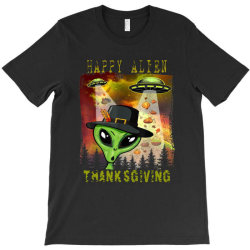 Happy Alien Thanksgiving T-shirt Designed By Qudkin
