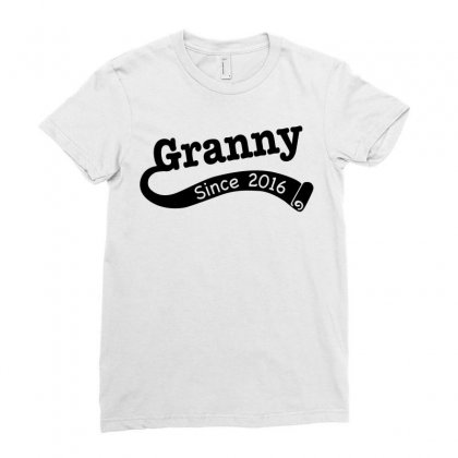 Granny Since 2016 Ladies Fitted T-shirt Designed By Tshiart