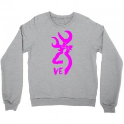 browning deer love for her Crewneck Sweatshirt | Artistshot