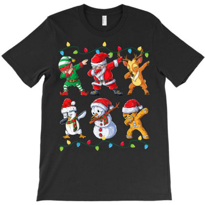 Dabbing Santa Elf Friends Christmas Kids Boys Men Xmas Gifts T Shirt T-shirt Designed By Welcome12
